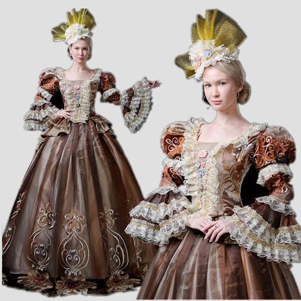 ロングドレス ヨーロッパ貴族の...