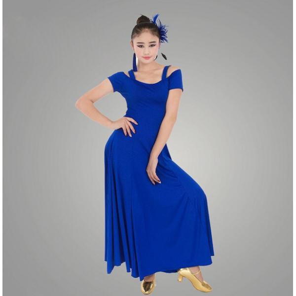 社交ダンス 社交ダンスドレス ワンピース デモ  ラテンドレス 練習用セット ロングドレス 上品なワンピース衣装 dm150d3d3m2|shop-manten|02