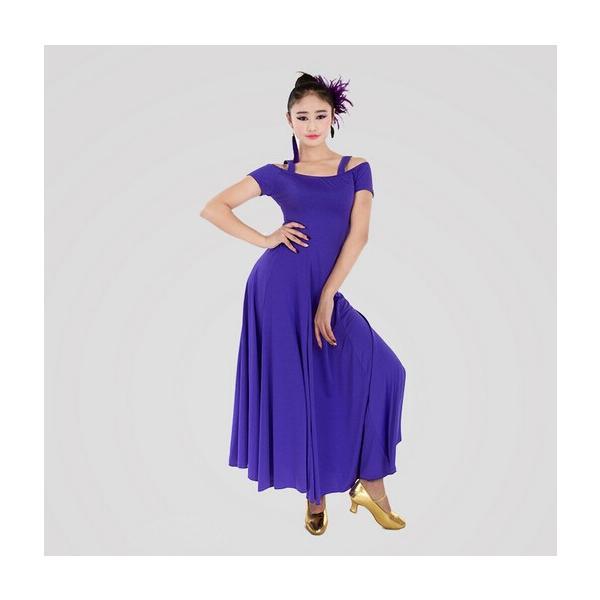 社交ダンス 社交ダンスドレス ワンピース デモ  ラテンドレス 練習用セット ロングドレス 上品なワンピース衣装 dm150d3d3m2|shop-manten|03