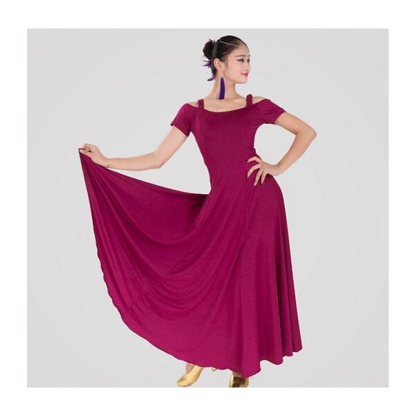社交ダンス 社交ダンスドレス ワンピース デモ  ラテンドレス 練習用セット ロングドレス 上品なワンピース衣装 dm150d3d3m2|shop-manten|05