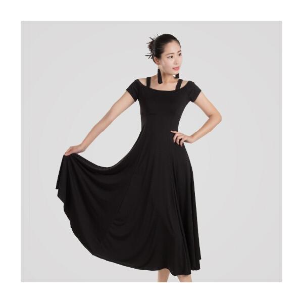 社交ダンス 社交ダンスドレス ワンピース デモ  ラテンドレス 練習用セット ロングドレス 上品なワンピース衣装 dm150d3d3m2|shop-manten|06