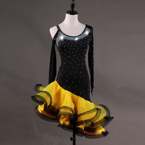 ラテン 衣装 社交ダンス ラテンドレス ドレス フリンジ キャバ ラ練習服 スタンダード ワルツ競技着 サイズ指定可|shop-manten|07