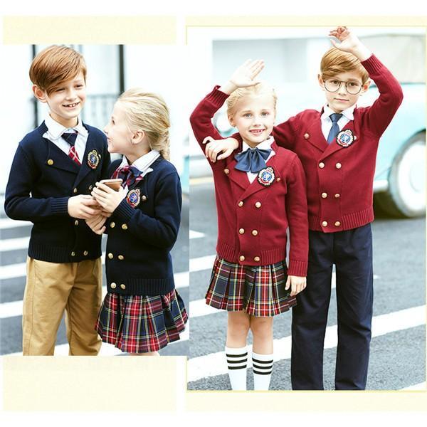 卒業式 スーツ お受験 受験 小学校受験 キッズ 制服 通園 通学 ロゴ入りカーディガン 子供 カジュアル 女の子 男の子服 卒園式