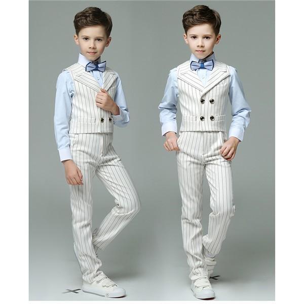 8b135b10ac2b3 ... 子供 ベスト セット 春 夏 秋 スーツ 男の子 4タイプ 子供 キッズ スーツ フォーマル 白 子供 ...