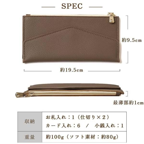 b1c2debd9ba1 ... 長財布 レディース 財布 大容量 使いやすい 小銭入れ ゴールド ファスナー 薄い ミニ 二つ折り ...