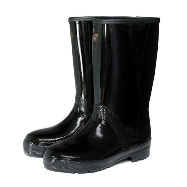 ミツウマ エース軽半タフ メンズ 作業用 長靴 特殊ゴム 屈曲 防水 梅雨 黒 ハーフ丈 雨靴|shop-mitsuuma|04