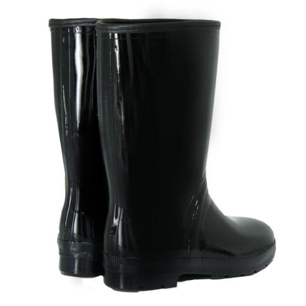 ミツウマ エース軽半タフ メンズ 作業用 長靴 特殊ゴム 屈曲 防水 梅雨 黒 ハーフ丈 雨靴|shop-mitsuuma|05