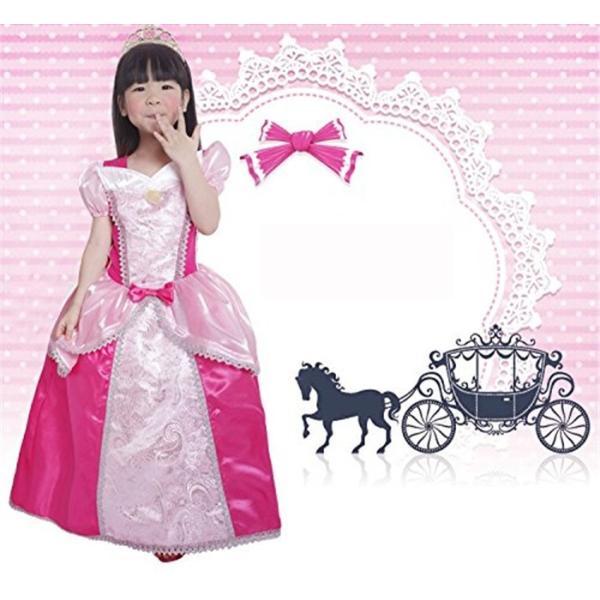 a07877b957c8b 即納 眠れる森の美女 オーロラ姫 半袖ドレス ワンピース ラプンツェル プリンセスドレス シンデレラ風 お姫様