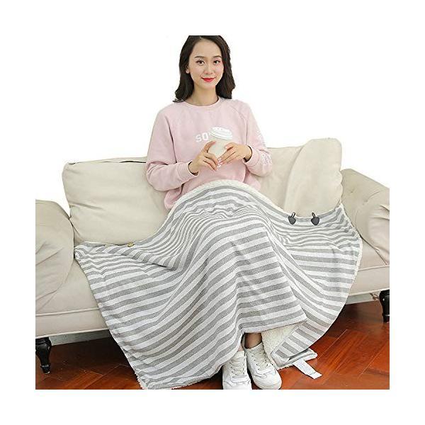 膝掛け ひざ掛け肩掛け 厚手 大判 80×135cm 着る毛布 冷房対策 防寒 丸洗い可能|shop-n