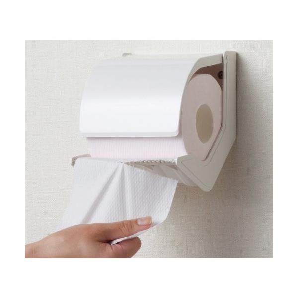 トイレットペーパー ホルダー シマブン ペーパーホルダー おくだけ マグネット取付タイプ PR-1B-S オフホワイト|shop-n|05