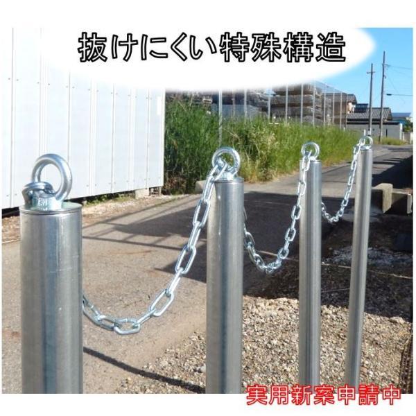 単管杭 外径48.6mm×厚さ2.4mm×長さ1.0M 自在に伸ばせる単管杭!3種類のキャップで用途が広がる。(送料無料) |shop-shinkou|06