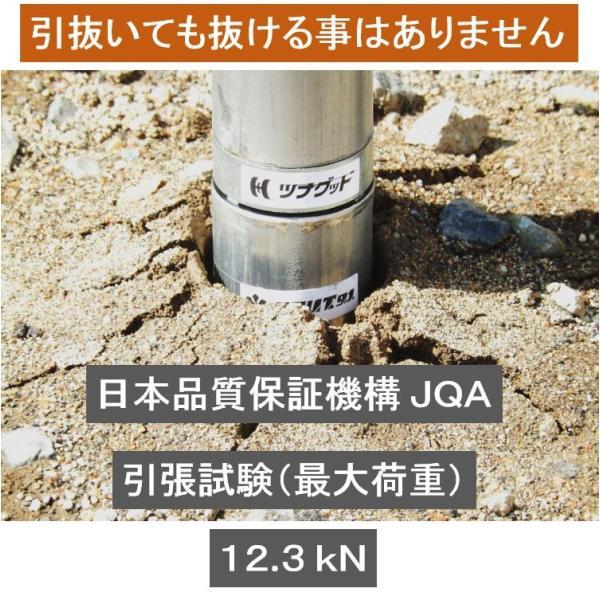 単管パイプの杭や単管杭【スカット91】の長さをその場で自在に伸ばせる単管ジョイント!  shop-shinkou 04