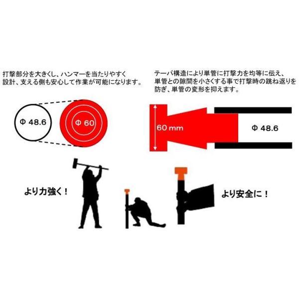 単管パイプや単管杭の打込み金具。 単管の変形を防ぐ単管パイプジョイント プロ仕様の単管金具!! shop-shinkou 04