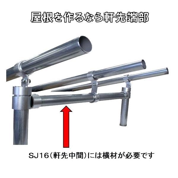 単管パイプジョイント φ48.6mm用 屋根用(軒先端部) ホーローセットでがっちり固定 角度は自在 SJ15|shop-shinkou|03