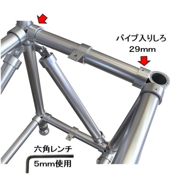 単管パイプジョイント φ48.6mm用 ホーローセットでがっちり固定 SJ2 shop-shinkou 03