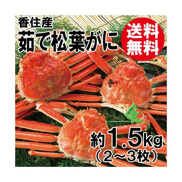 香住産・茹で松葉がに(2〜3枚)(約1.5kg)(大きさ不揃い)[送料無料](カニ かに 蟹 ズワイガニ ずわいがに 松葉ガニ 松葉蟹 お取り寄せ 産地直送)