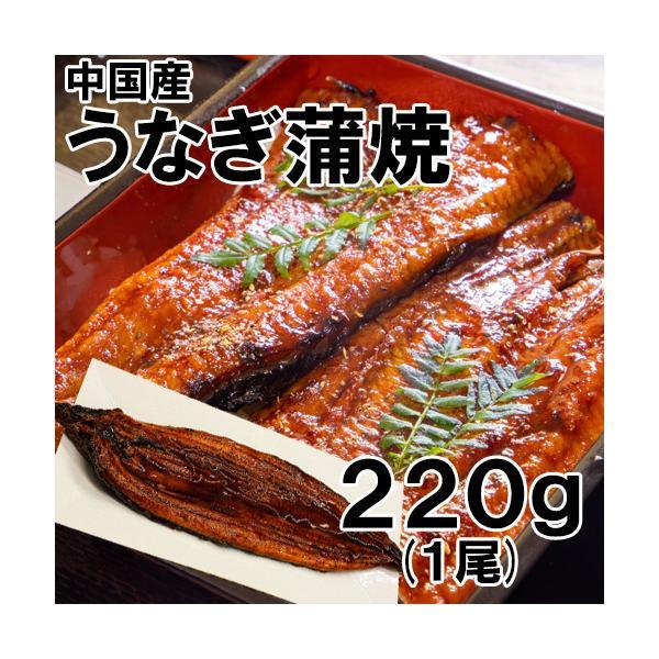 中国産 うなぎ蒲焼 1尾 220g 冷凍 ウナギ うなぎ 鰻 蒲焼 土用 丑の日 お取り寄せ ギフト