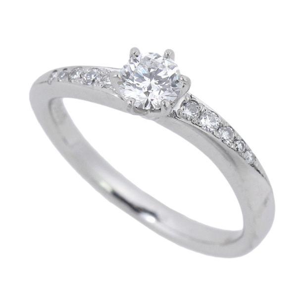 ヴァンドーム青山 VENDOME AOYAMA ピンキー リング 指輪 プラチナ Pt950 ダイヤモンド 0.225ct 4号 鑑付 本物保証 超美品 shop-takashimaya7