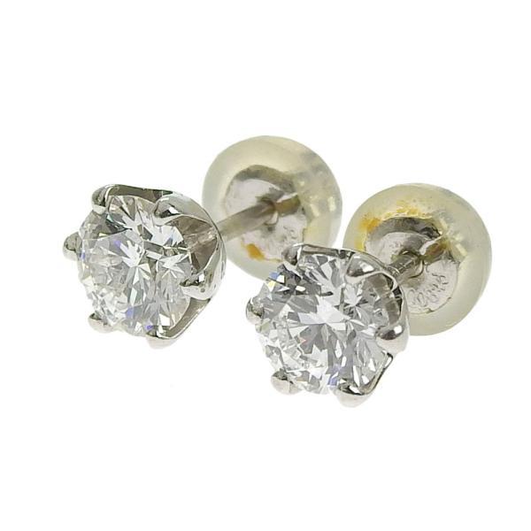 本物保証 超美品 ノーブランド OTHER BRAND 一粒石 ピアス プラチナ Pt900 ダイヤ 0.492ct/0.485ct 1.6g|shop-takashimaya7