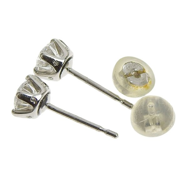 本物保証 超美品 ノーブランド OTHER BRAND 一粒石 ピアス プラチナ Pt900 ダイヤ 0.492ct/0.485ct 1.6g|shop-takashimaya7|05