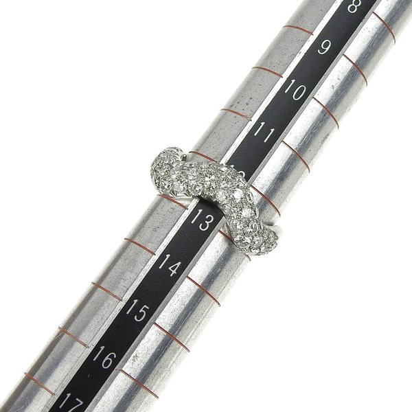 本物保証 超美品 マットン MATHON ウェーブ リング 指輪 K18WG ダイヤモンド #53|shop-takashimaya7|03
