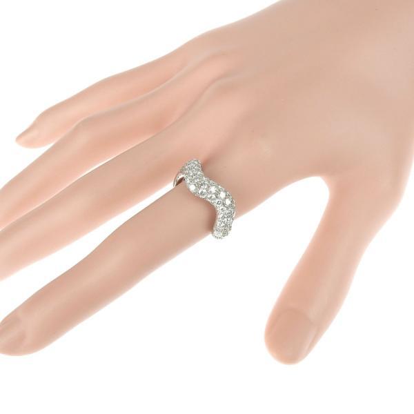 本物保証 超美品 マットン MATHON ウェーブ リング 指輪 K18WG ダイヤモンド #53|shop-takashimaya7|04