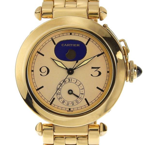 本物保証 超美品 カルティエ CARTIER パシャ38ミリ デイト ムーンフェイズ メンズ クォーツ 腕時計 K18YG|shop-takashimaya7