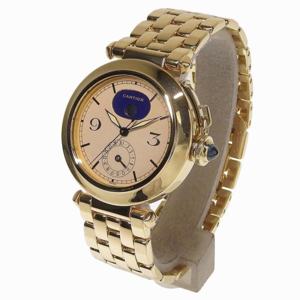 本物保証 超美品 カルティエ CARTIER パシャ38ミリ デイト ムーンフェイズ メンズ クォーツ 腕時計 K18YG|shop-takashimaya7|02