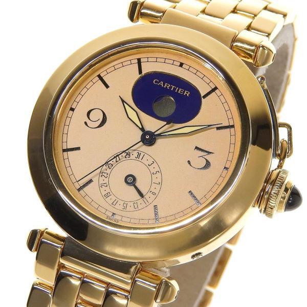 本物保証 超美品 カルティエ CARTIER パシャ38ミリ デイト ムーンフェイズ メンズ クォーツ 腕時計 K18YG|shop-takashimaya7|03