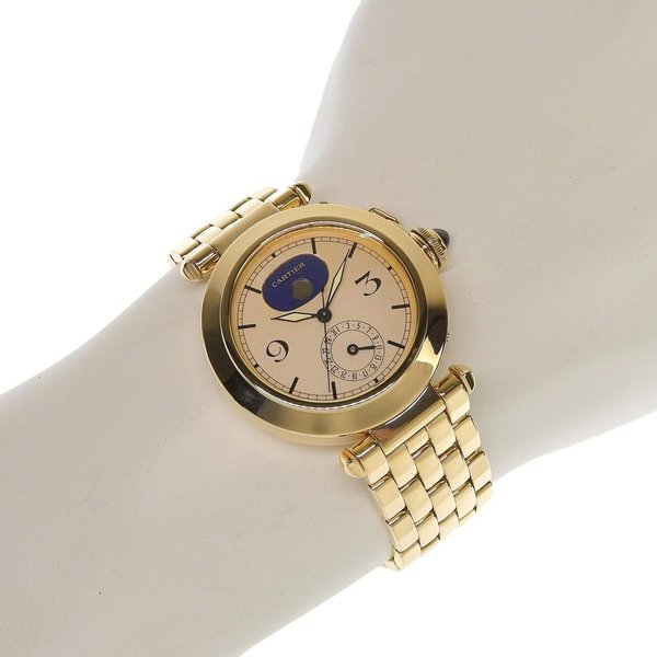 本物保証 超美品 カルティエ CARTIER パシャ38ミリ デイト ムーンフェイズ メンズ クォーツ 腕時計 K18YG|shop-takashimaya7|05