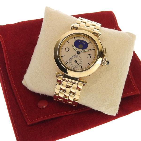 本物保証 超美品 カルティエ CARTIER パシャ38ミリ デイト ムーンフェイズ メンズ クォーツ 腕時計 K18YG|shop-takashimaya7|06