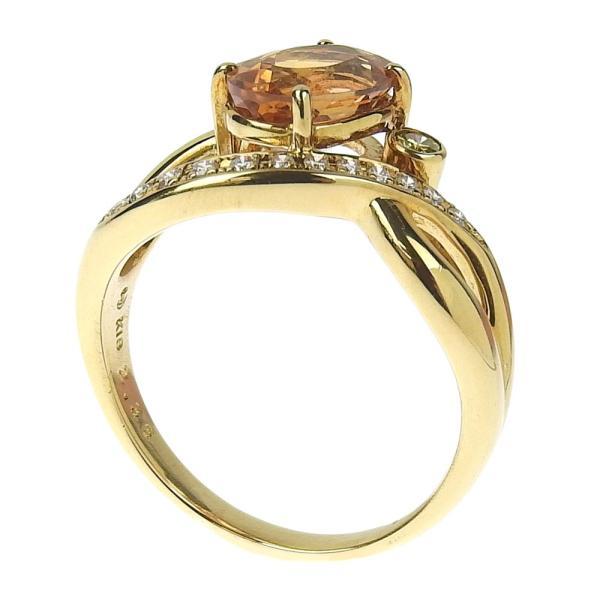 本物保証 超美品 タサキ TASAKI リング 指輪 K18YG インペリアルトパーズ2.36ct メレダイヤ0.13ct 6.4g 17号|shop-takashimaya7|02