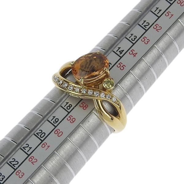 本物保証 超美品 タサキ TASAKI リング 指輪 K18YG インペリアルトパーズ2.36ct メレダイヤ0.13ct 6.4g 17号|shop-takashimaya7|04