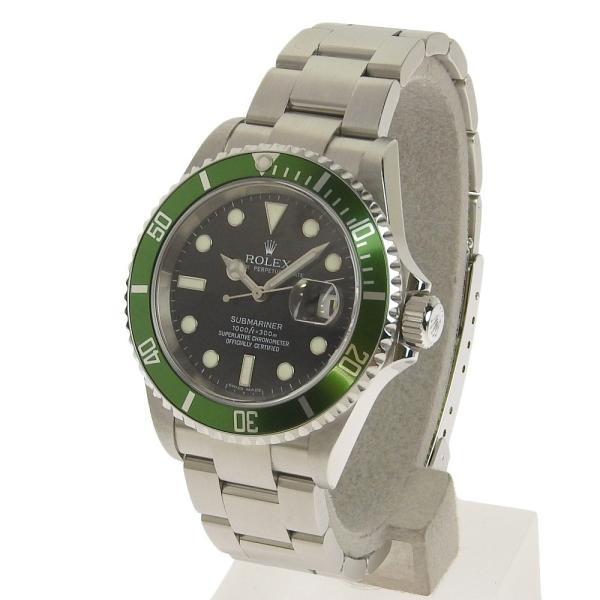 本物保証 美品 ロレックス ROLEX サブマリーナ グリーンベゼル ノンポリッシュ メンズ 腕時計 16610LV D番|shop-takashimaya7|02