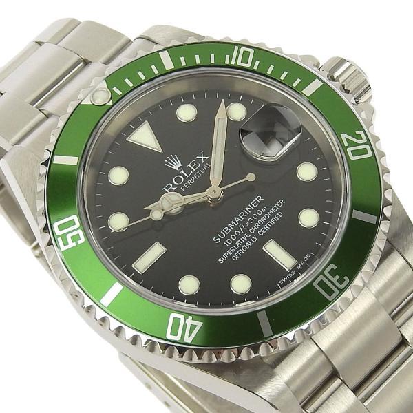 本物保証 美品 ロレックス ROLEX サブマリーナ グリーンベゼル ノンポリッシュ メンズ 腕時計 16610LV D番|shop-takashimaya7|03