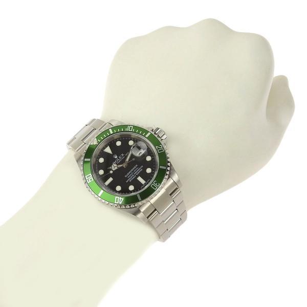 本物保証 美品 ロレックス ROLEX サブマリーナ グリーンベゼル ノンポリッシュ メンズ 腕時計 16610LV D番|shop-takashimaya7|07