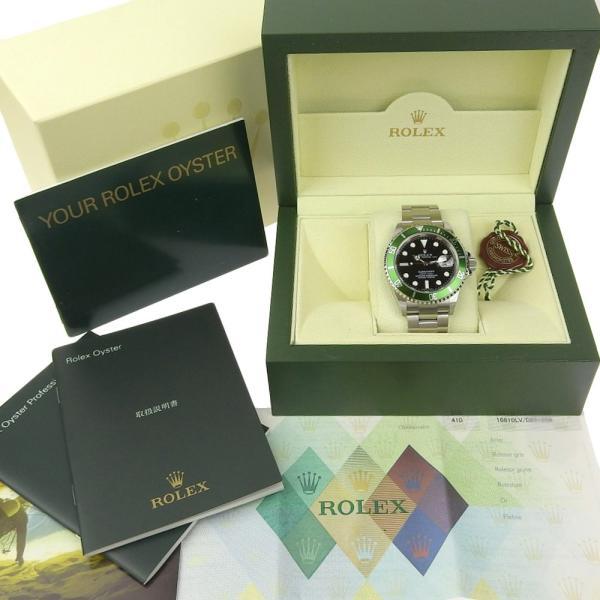 本物保証 美品 ロレックス ROLEX サブマリーナ グリーンベゼル ノンポリッシュ メンズ 腕時計 16610LV D番|shop-takashimaya7|08