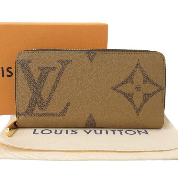 ルイ ヴィトン LOUIS VUITTON モノグラム ジャイアント ジッピーウォレット ラウンドファスナー長財布 茶 箱・布袋付 本物保証 超美品|shop-takashimaya7