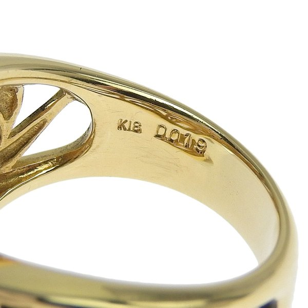 本物保証 超美品 ノーブランド OTHER BRAND 真珠 リング K18YG パール 5個入 メレダイヤモンド 0.19ct 12号 オシャレ おしゃれ|shop-takashimaya7|02