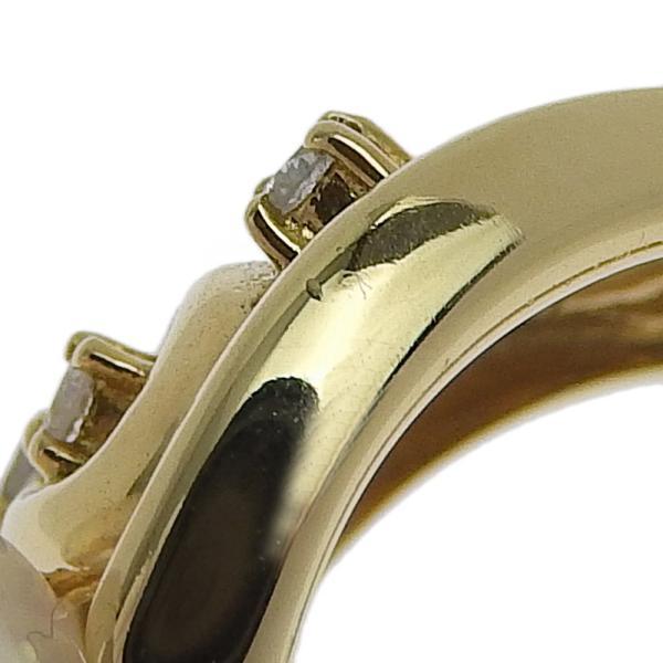 本物保証 超美品 ノーブランド OTHER BRAND 真珠 リング K18YG パール 5個入 メレダイヤモンド 0.19ct 12号 オシャレ おしゃれ|shop-takashimaya7|03