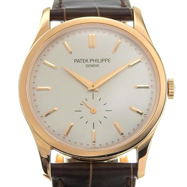 パテックフィリップPATEKPHILIPPEカラトラバメンズ手巻き腕時計スモセコ新品革ベルト5196R-00158.3g本物保証