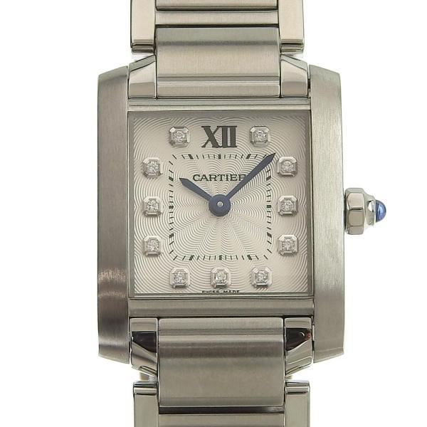 カルティエ CARTIER タンクフランセーズSM 11PD インデックスダイヤ レディース クォーツ 腕時計 WE110006  本物保証 超美品|shop-takashimaya7