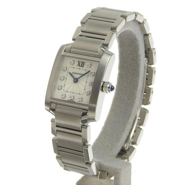 カルティエ CARTIER タンクフランセーズSM 11PD インデックスダイヤ レディース クォーツ 腕時計 WE110006  本物保証 超美品|shop-takashimaya7|02