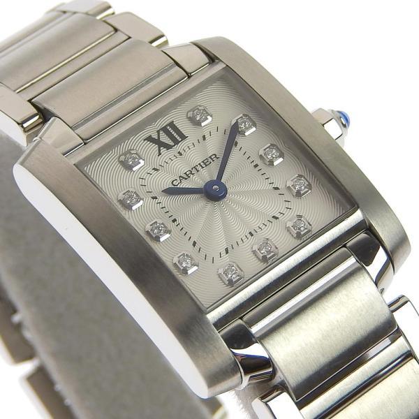 カルティエ CARTIER タンクフランセーズSM 11PD インデックスダイヤ レディース クォーツ 腕時計 WE110006  本物保証 超美品|shop-takashimaya7|03