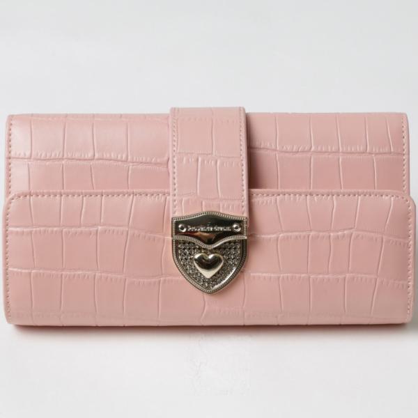 長財布 財布 本革 レディース 2つ折り 長財布 レザー クロコダイル 柄の型押し レザー PD56ギフト対応|shop-ybj