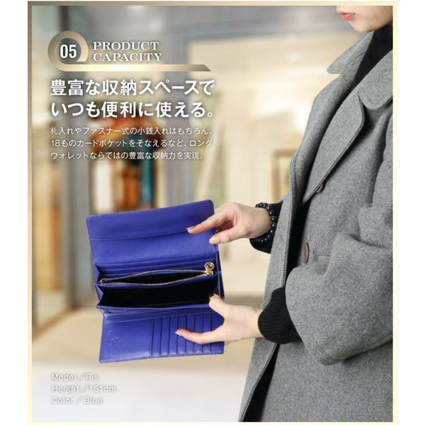 長財布 財布 本革 レディース 2つ折り 長財布 レザー クロコダイル 柄の型押し レザー PD56ギフト対応|shop-ybj|12