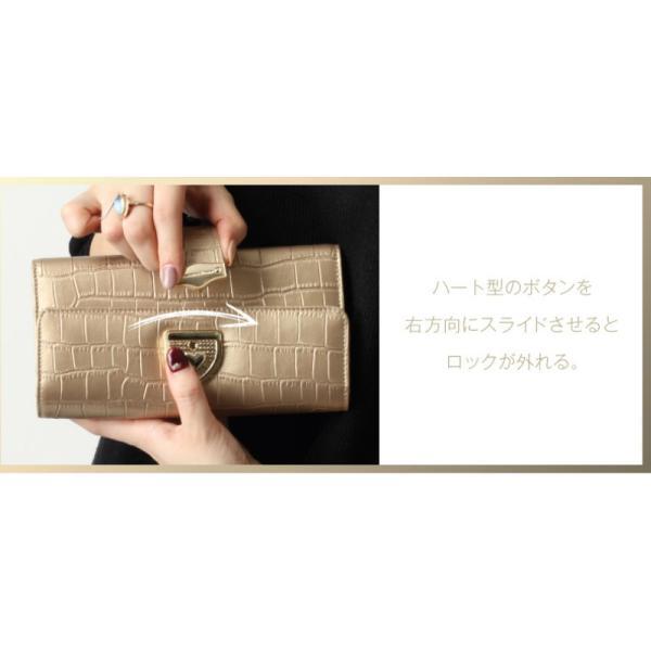 長財布 財布 本革 レディース 2つ折り 長財布 レザー クロコダイル 柄の型押し レザー PD56ギフト対応|shop-ybj|16