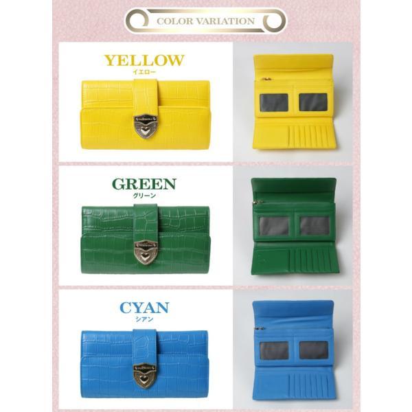 長財布 財布 本革 レディース 2つ折り 長財布 レザー クロコダイル 柄の型押し レザー PD56ギフト対応|shop-ybj|19