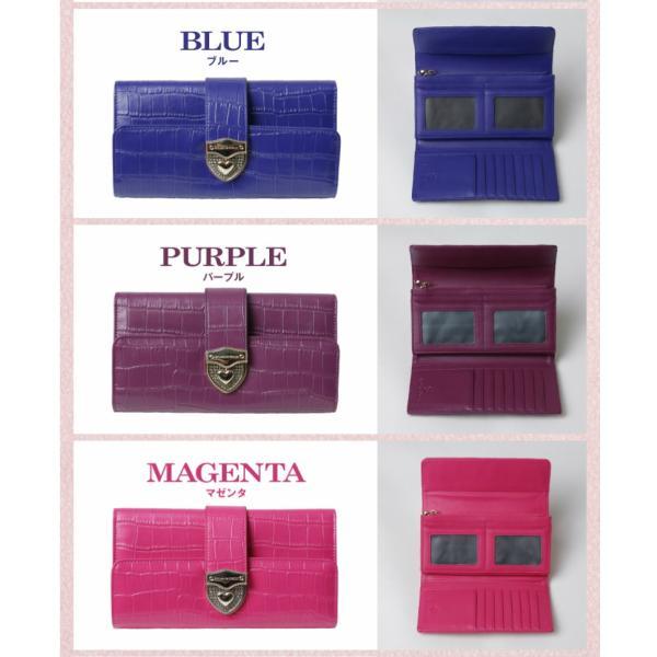長財布 財布 本革 レディース 2つ折り 長財布 レザー クロコダイル 柄の型押し レザー PD56ギフト対応|shop-ybj|20
