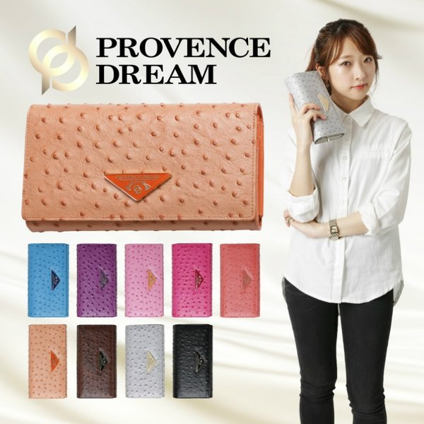 財布 レディース 長財布 Provence Dream 大容量 ポシェット クラッチバッグ 折り財布  オーストリッチ アコーディオン PD51|shop-ybj|02